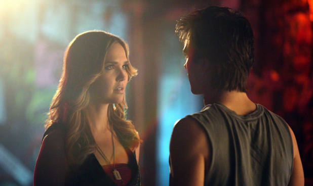 Arielle Kebbel as Lexi and Ian Somerhalder as Damon in The Vampire Diaries S04E17: 'Because The Night'