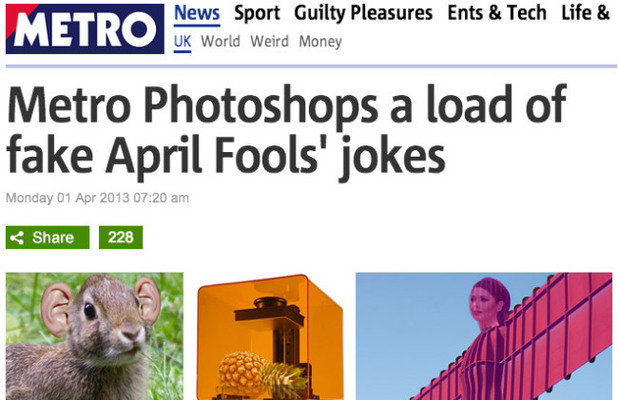 April Fools' Day: Metro