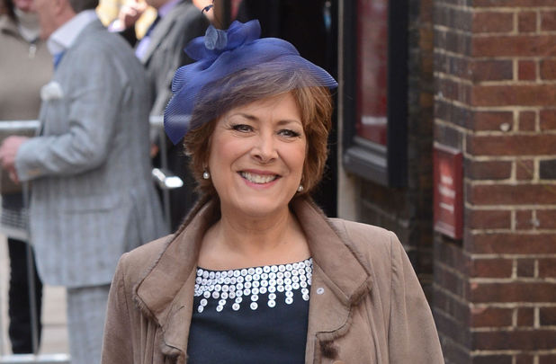 Lynda Bellingham at the wedding of Helen Worth and Trevor Dawson.