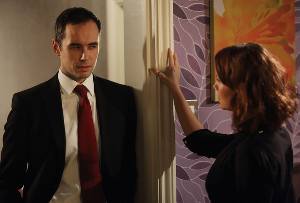 Michael is shocked to see Janine standing in front of him.