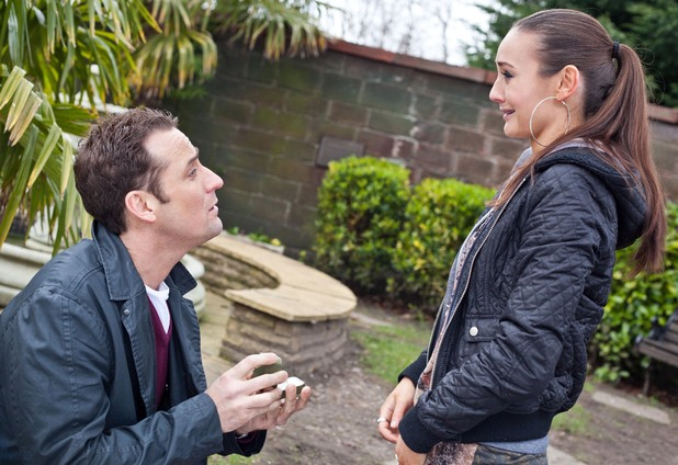 Tony proposes to Jacqui.