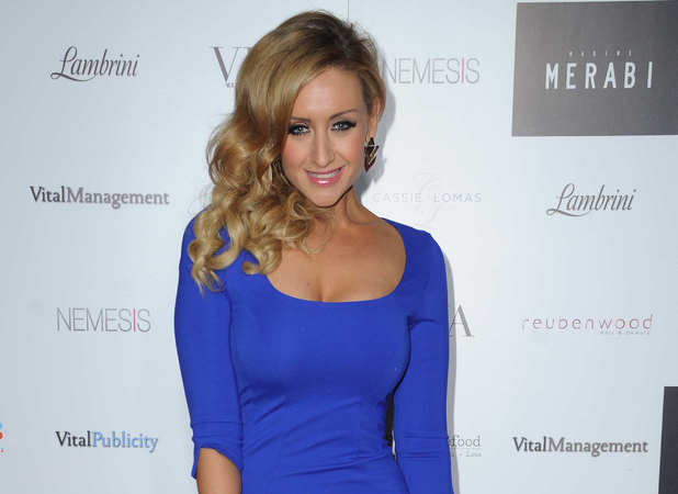 Catherine Tyldesley, 2013 Merabi Couture Spring/Summer fashion show