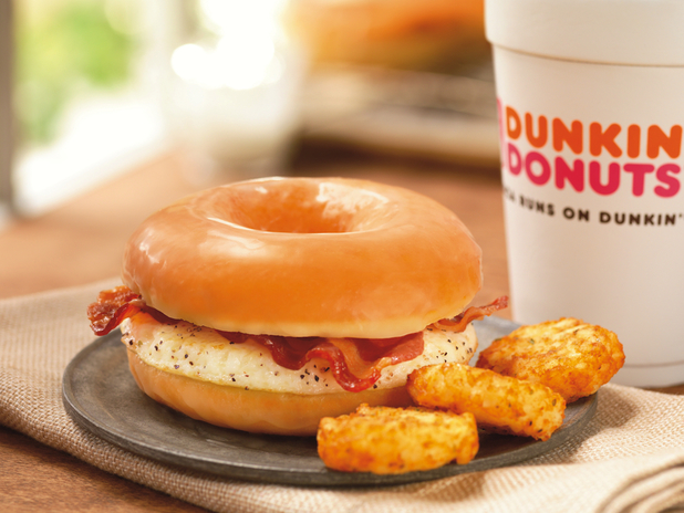 Donut bacon sandwich