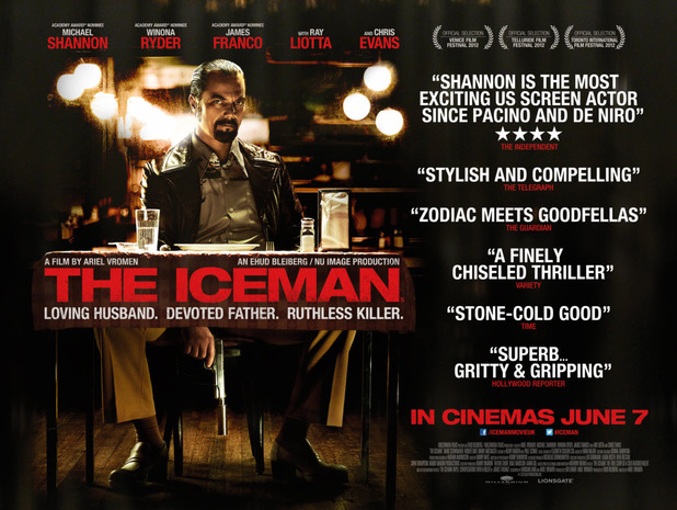 Michael Shannon in 'The Iceman' poster