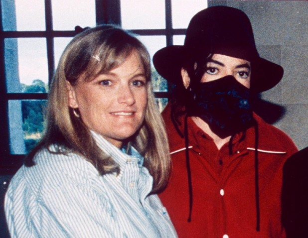 Debbie Rowe with Michael Jackson in 1997