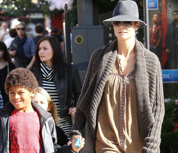 Heidi Klum with her son Henry