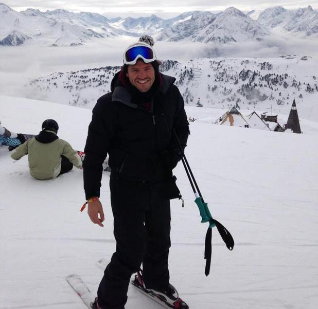 Mark Wright on a skiing holiday in Austria
