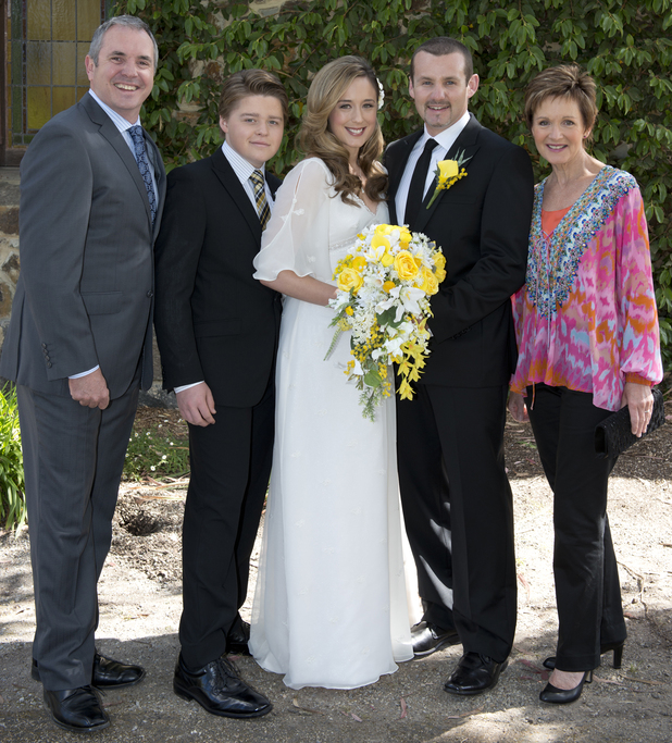 The Kennedy's celebrate with Sonia and Toadie.