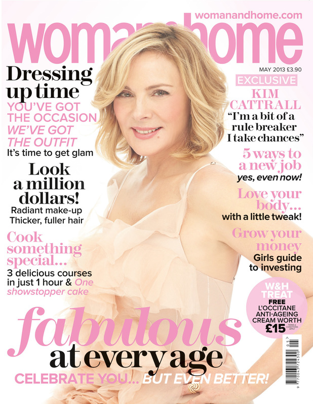 Kim Cattrall covers the May issue of Woman & Home