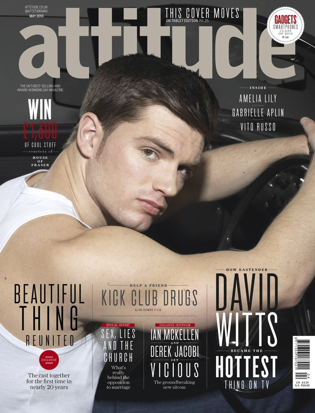 David Witts on the cover of Attitude magazine