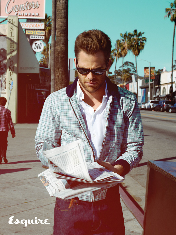 Chris Pine photo shoot for Esquire magazine