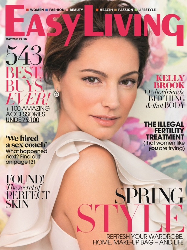Kelly Brook on the May cover of Easy Living magazine