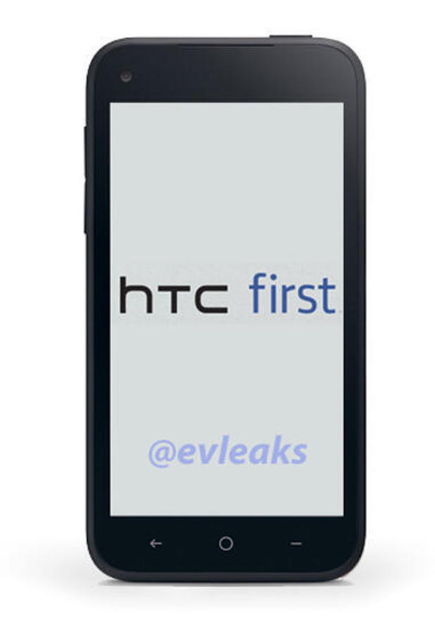Leaked image of the HTC First smartphone