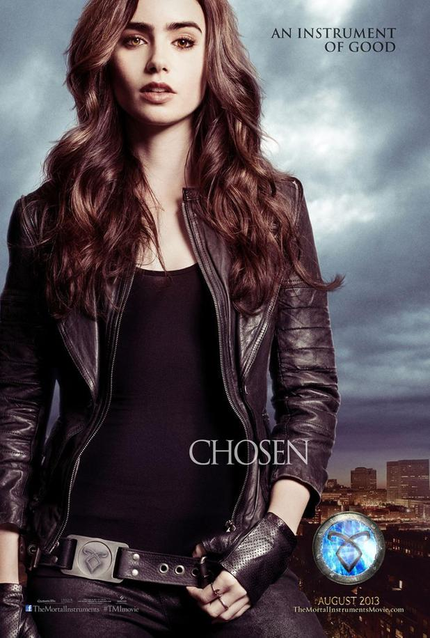 Lily Collins in 'The Mortal Instruments: City of Bones' character poster