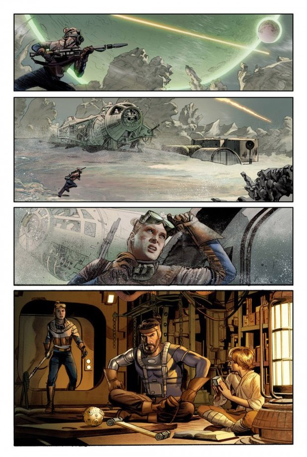 Artwork from Dark Horse Comics' 'The Star Wars'