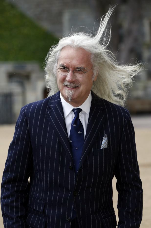 Billy Connolly arrives for a reception for the British Film Industry held by Britain's Queen Elizabeth II and The Duke of Edinburgh at Windsor Castle