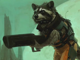 Rocket Racoon concept art for 'Guardians of the Galaxy'