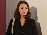 Janine arrives back in Walford.