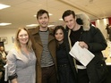 Gavin & Stacey star pictured with Matt Smith and David Tennant at read-through.