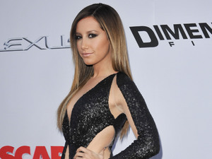 Ashley Tisdale, Scary Movie 5, premiere, Los Angeles, sheer gown, fashion