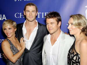 Elsa Pataky, Chris Hemsworth, Luke Hemsworth, Inaugural Oceana Ball, New York