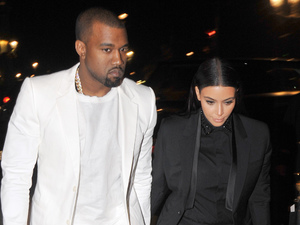 Kim Kardashian, Kanye West, celebrity couples, matching outfits