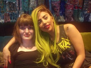 Lady GaGa with ill fan Emma C
