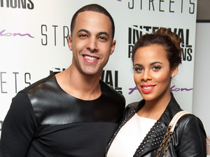Marvin Humes and Rochelle Wiseman at the VIP night for Streets, at the Cockpit theatre in north London