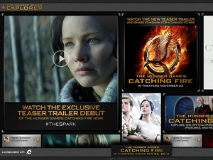 The Hunger Games Explorer homepage