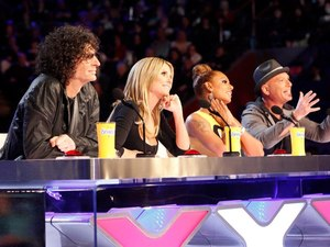 America's Got Talent judges Howard Stern, Heidi Klum, Mel B and Howie Mandel
