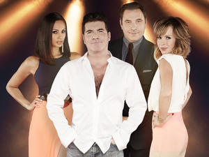 Britain's Got Talent judges Alesha Dixon, Simon Cowell, David Walliams & Amanda Holden