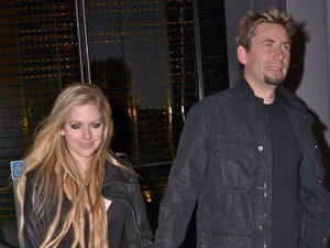 Avril Lavigne Chad Kroeger out and about