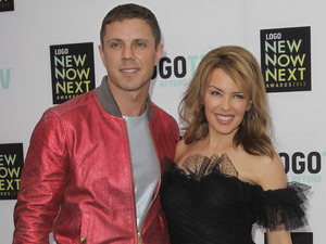 Kylie Minogue and Jake Shears attend the &#39;NewNowNext Awards&#39;.