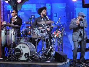The Roots on the 'Late Night' stage ~~ 2010 file photo