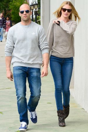 Jason Statham, Rosie Huntington-Whiteley, matching outfits, celebrity couples