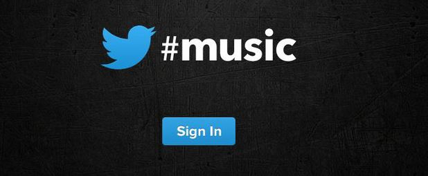 A screenshot of the Twitter #music website