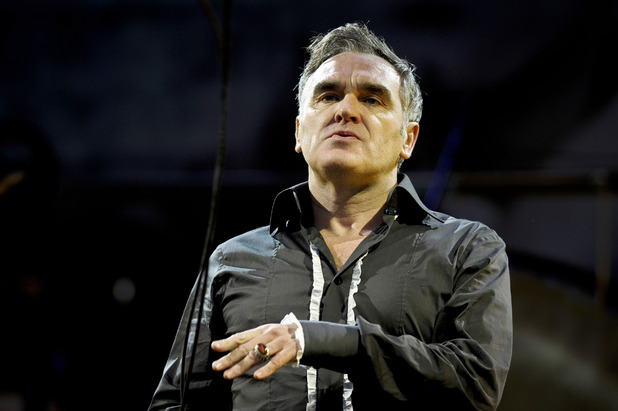 Morrissey performs at Glastonbury 2011