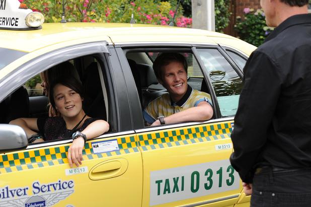 Andrew, Tash and Sophie depart Ramsay Street.
