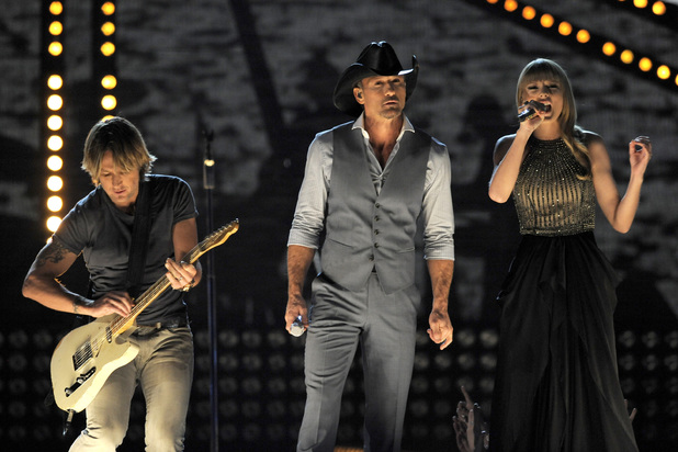 Keith Urban, Tim McGraw and Taylor Swift