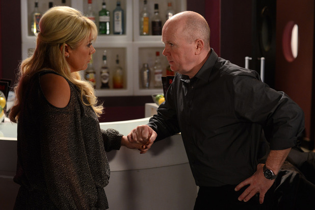 Phil asks Sharon whether she wants to be with him