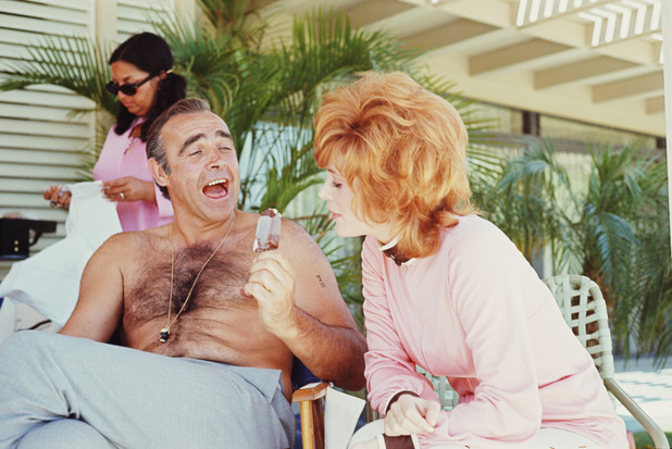 Sean Connery takes a break with Jill St John