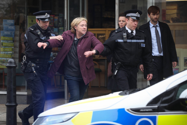 Pauline Quirke as Susan Wright and  in Broadchurch Episode 6
