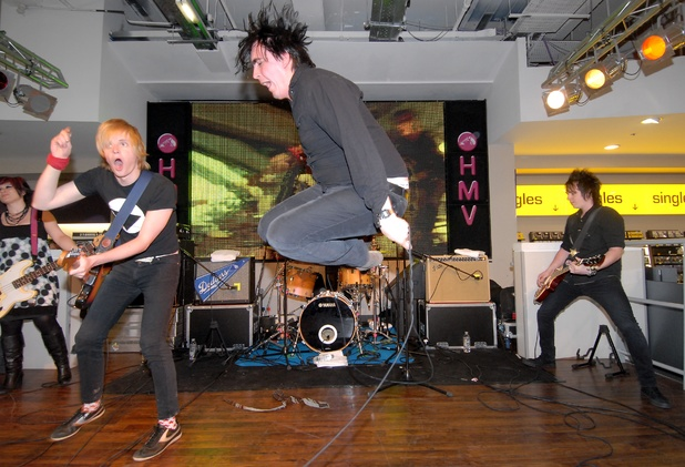 Art Brut performing at HMV Oxford Street in June 2007