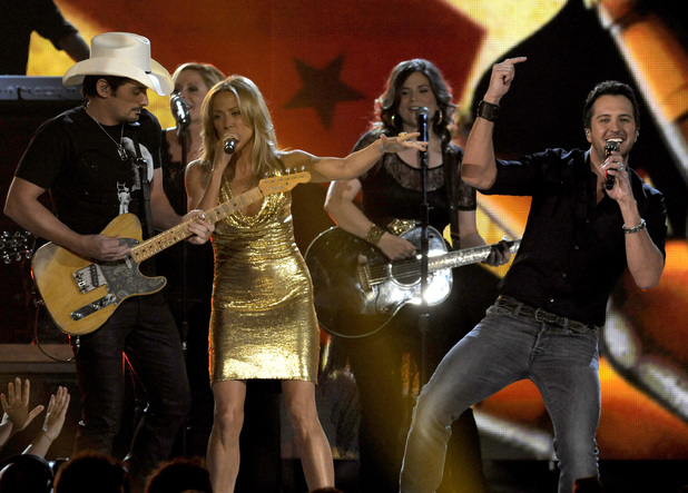 Brad Paisley, Sheryl Crow and Luke Bryan