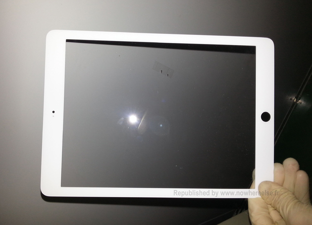 Alleged leaked image of the iPad 5 bezel