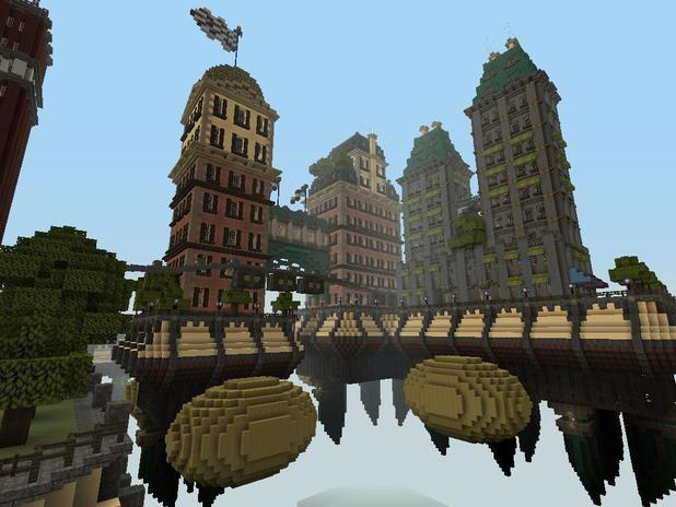 'Bioshock Infinite' recreated in Minecraft