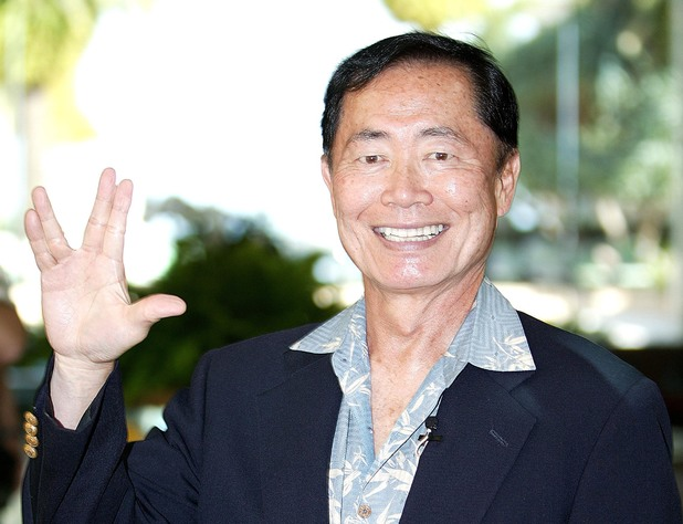 George Takei does the Vulcan salute at the meet & greet even for 'I'm A Celebrity' in Australia