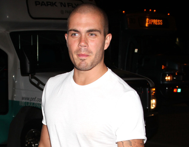 Max George arrives at LAX airport.