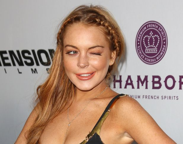 Lindsay Lohan, Dolce and Gabbana dress, fashion, Scary Movie 5 premiere