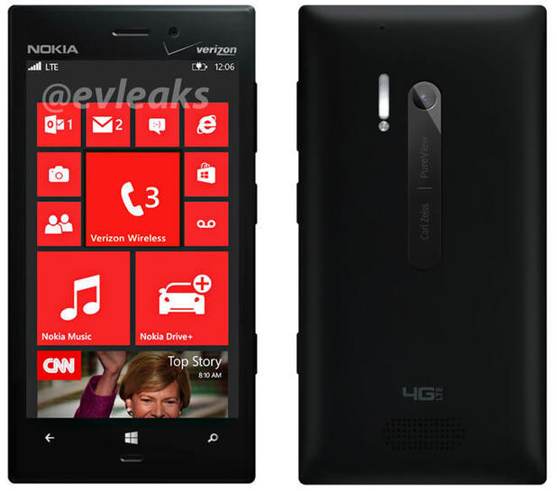 Leaked press photo of the Nokia Lumia 928